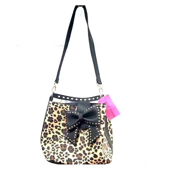 Betsey Johnson Handbags - Betsey Johnson Leopard Bucket Tote